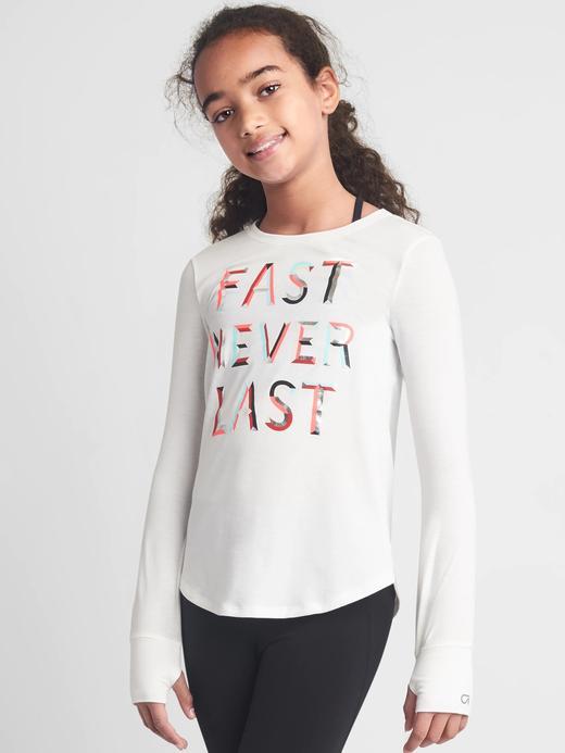GapFit Kids pırıltılı uzun kollu t-shirt