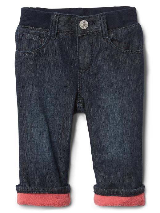 Polar astarlı straight jean pantolon
