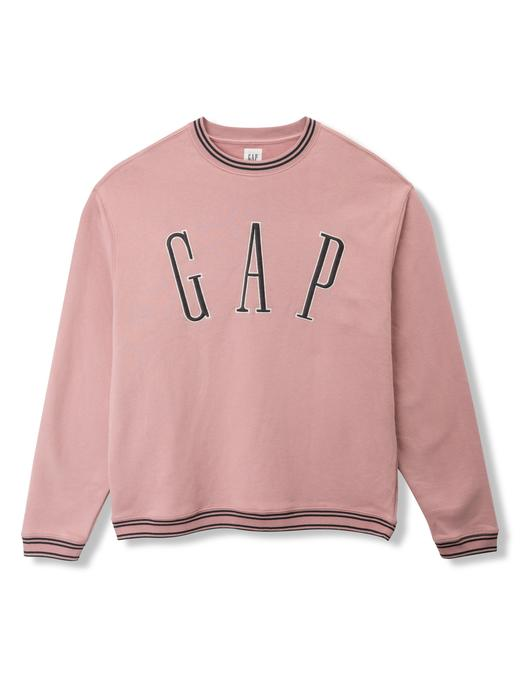 Logolu düz yaka sweatshirt