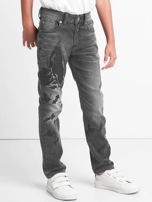 siyah GapKids   DC™ Batman streç slim jean pantolon