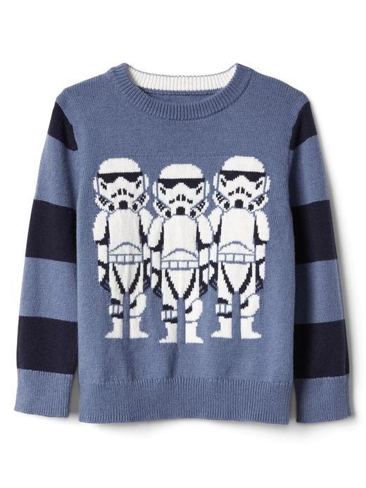 Bebek mavi Gap   Star Wars™ intarsia sıfır yaka kazak