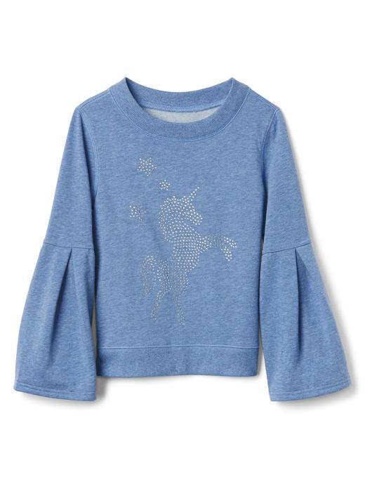 indigo Unicorn desenli uzun kollu sweatshirt