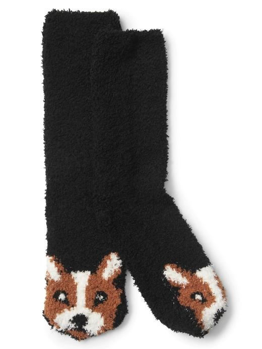 Kadın köpek Desenli yumuşak ev çorabı