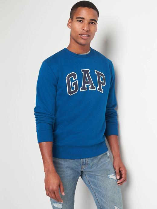 mavi Logolu polarlı sıfır yaka sweatshirt