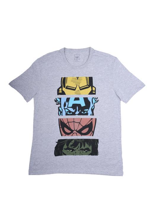 gri Kısa kollu grafik desenli t-shirt