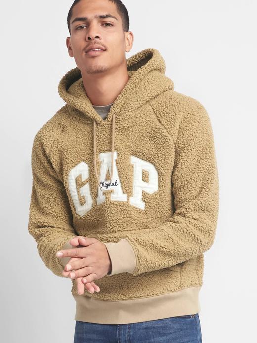 Sherpa logolu kapüşonlu sweatshirt