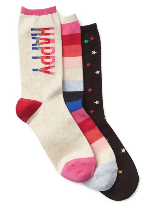 indigo 3'lü desenli çorap