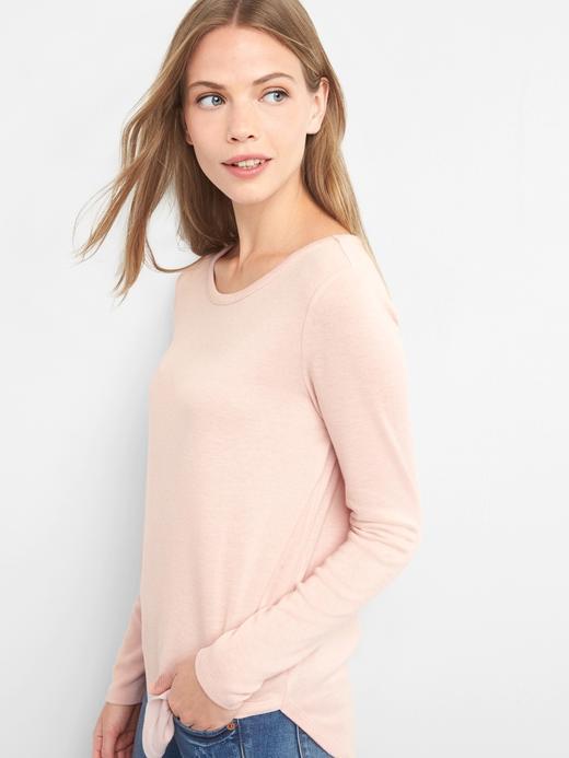 Kadın pembe Uzun Kollu T-Shirt