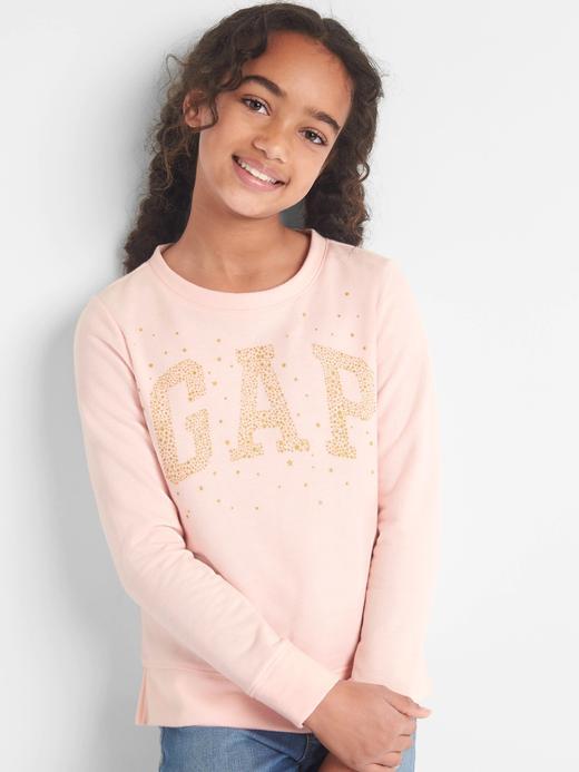 Logolu sıfır yaka sweatshirt