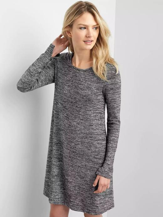 Kadın lame Uzun kollu metalik elbise
