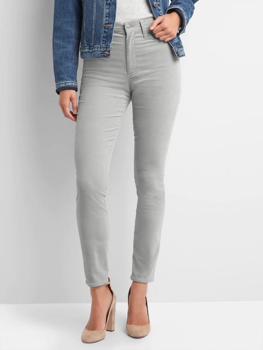 Orta Belli Kadife Skinny Pantolon