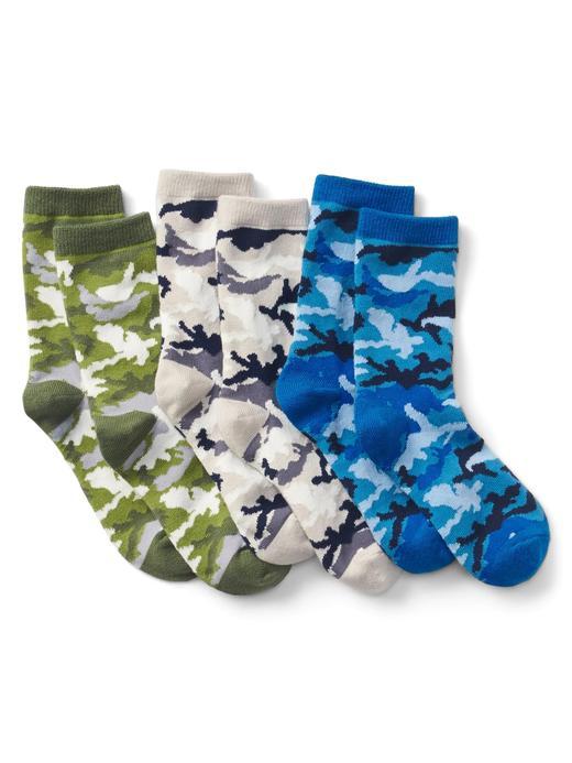 3'lü kamuflaj desenli çorap