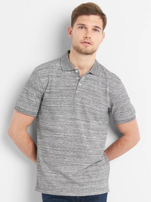 Kısa kollu streç pique polo t-shirt