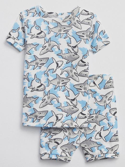 Köpek balığı desenli pijama takımı
