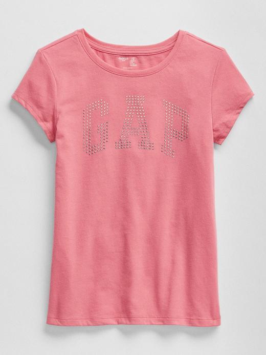 İşlemeli Logolu Kısa Kollu Jarse T-Shirt