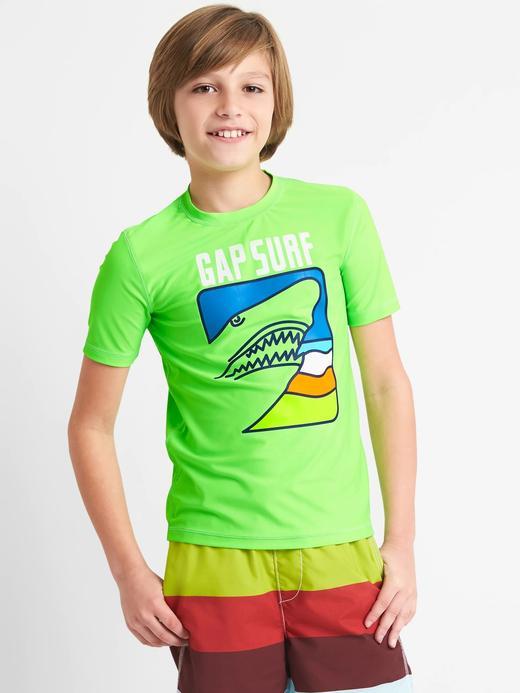 Grafik desenli kısa kollu mayo t-shirt