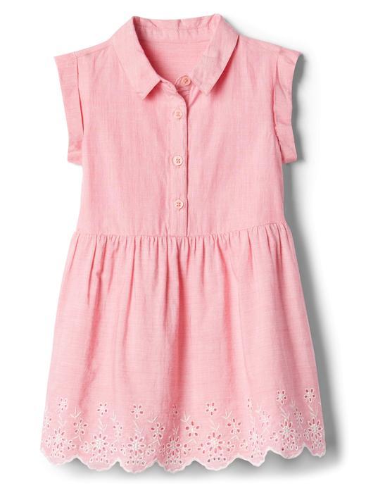 İşlemeli gömlek elbise