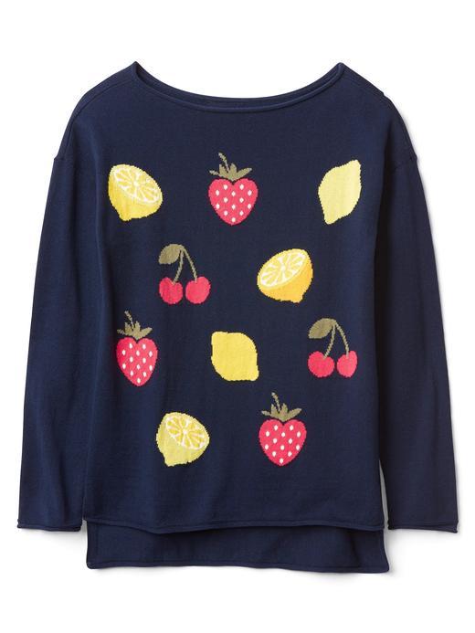 lacivert Grafik desenli kayık yaka sweatshirt