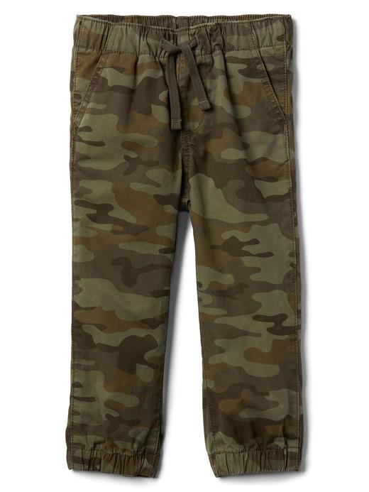Yeşil Kanvas jogger pantolon