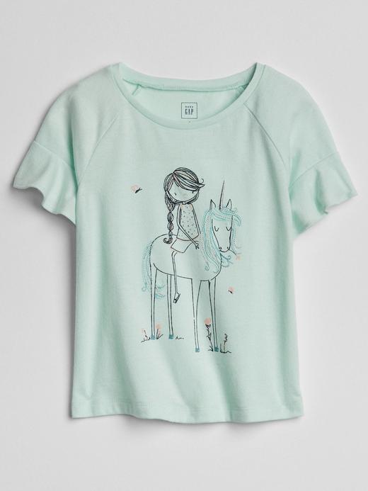 Fırfırlı Baskılı T-Shirt
