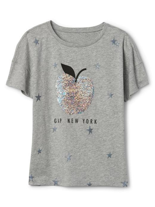 açık gri Baskılı kısa kollu t-shirt