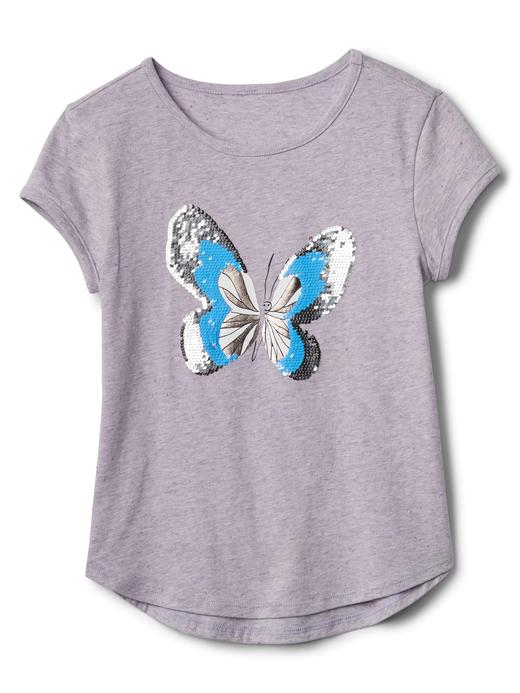 Değişen Pullu Desenli Kısa Kollu T-Shirt