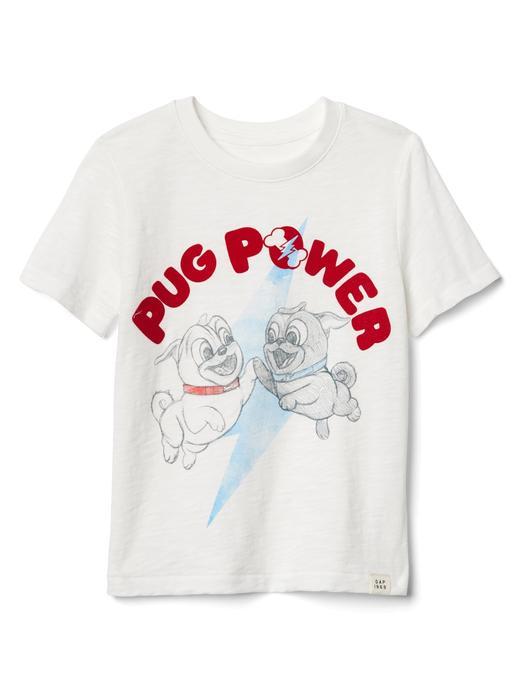 Bebek kırık beyaz Kısa kollu grafik desenli t-shirt