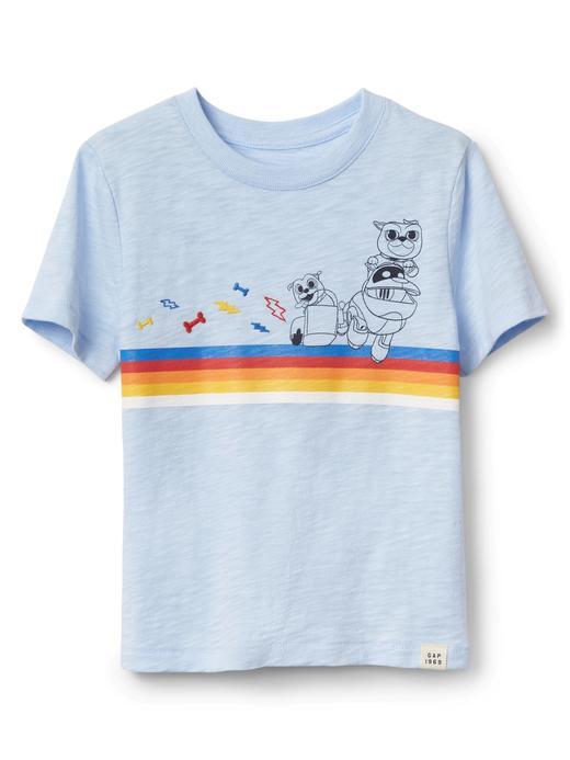 Kısa kollu grafik desenli t-shirt
