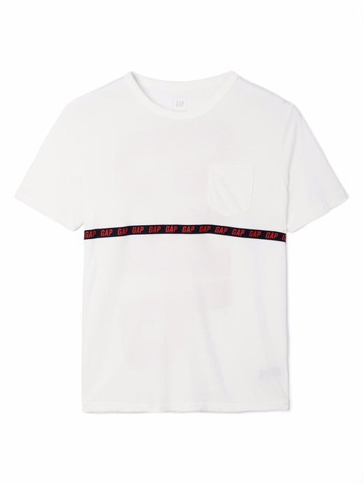 kırık beyaz Gap Logo T-Shirt
