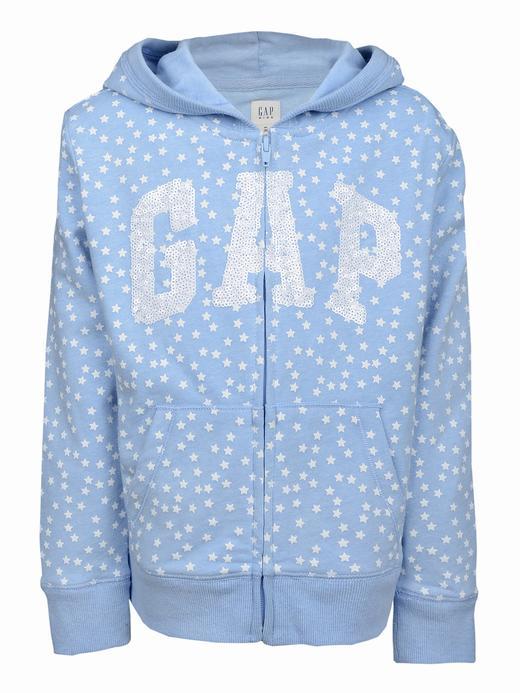 Mavi Logolu desenli kapüşonlu sweatshirt