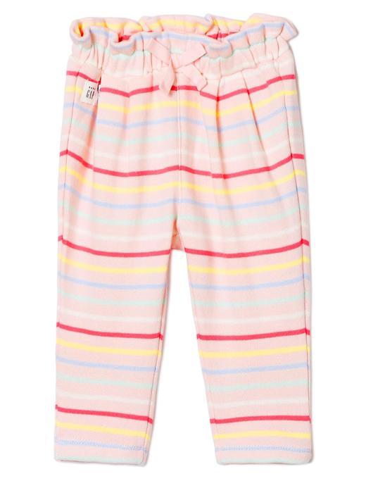 Çizgi desenli elastik pantolon