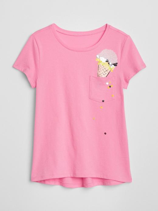Pullu kısa kollu cepli t-shirt