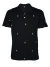 Siyah Desenli kısa kollu polo t-shirt