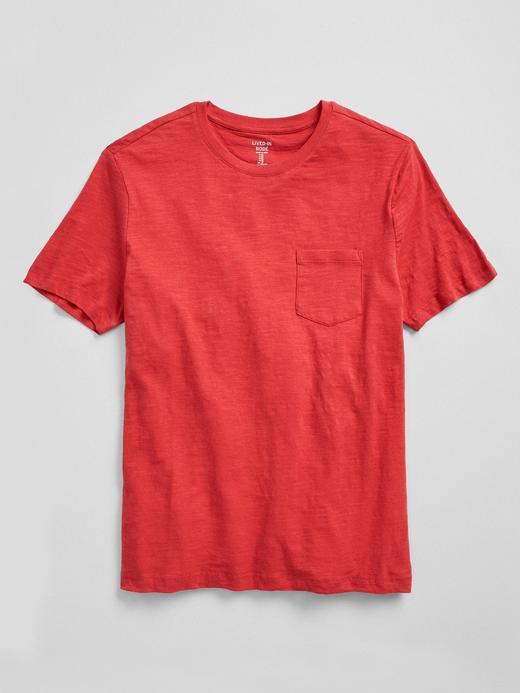Sıfır Yaka Cepli T-Shirt
