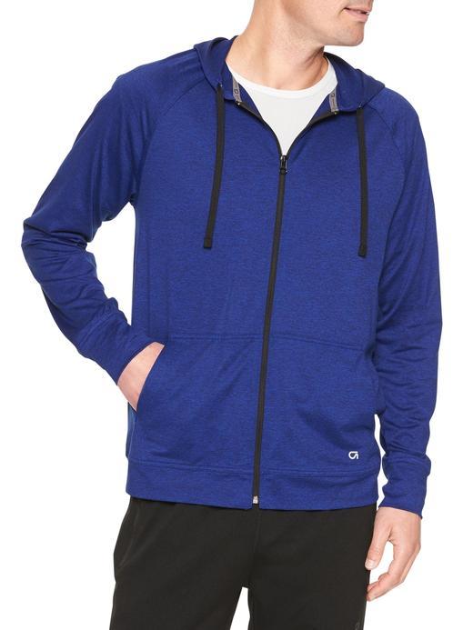 mavi kareli Kapüşonlu jarse sweatshirt