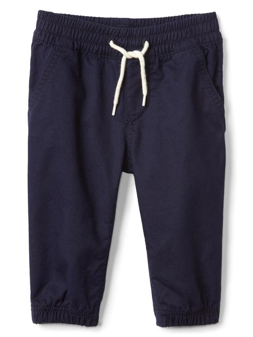 Pamuklu poplin pantolon