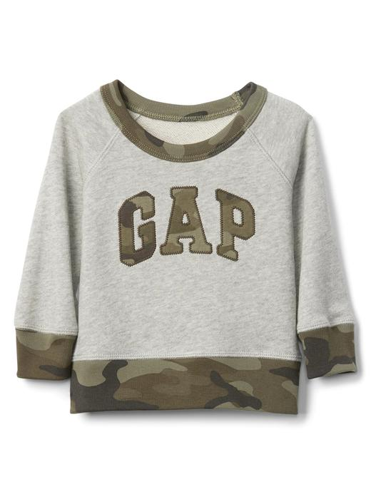 Bebek gri Kamuflaj Desenli Gap Logo Sweatshirt