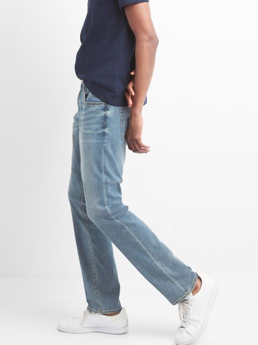 Açık yıkamalı slim fit GapFlex jean pantolon