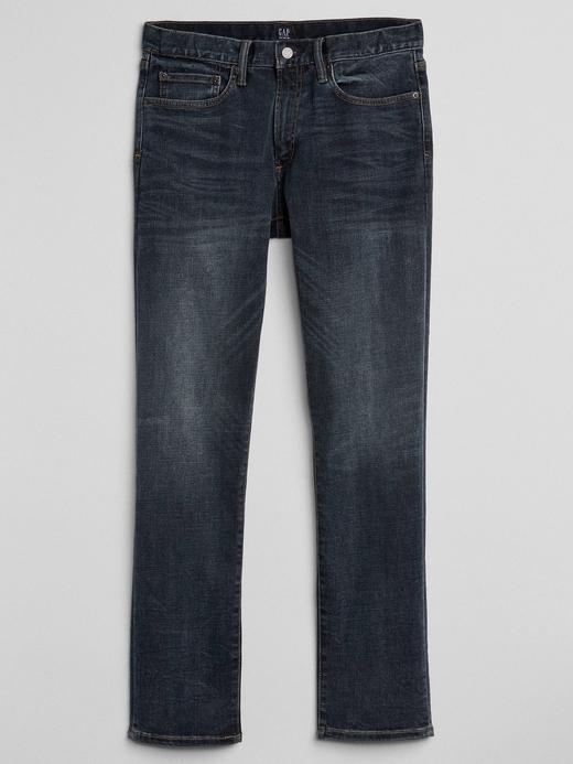 Washwell koyu indigo yıkamalı slim fit Gapflex jean pantolon