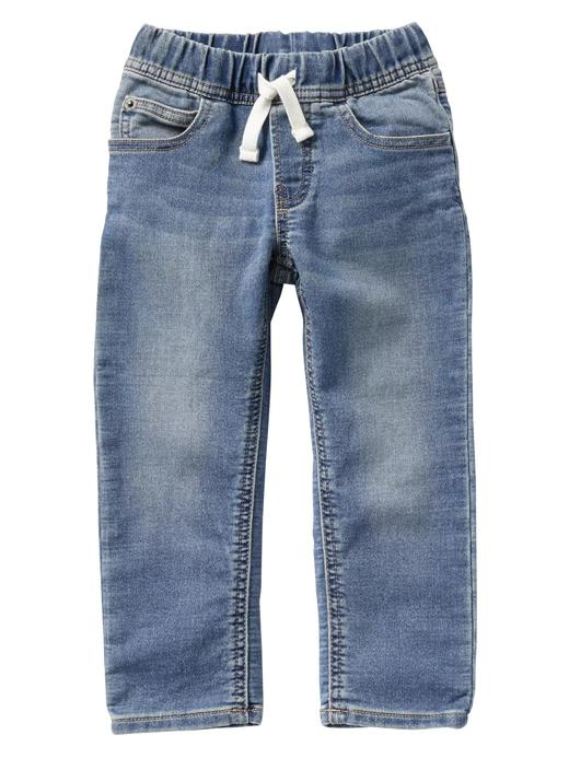 Açık yıkamalı slim jean pantolon