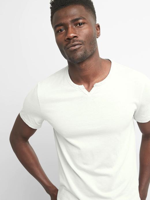 Erkek kırık beyaz Kısa kollu t-shirt