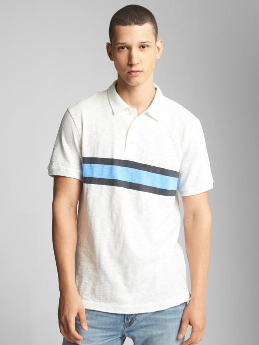 Erkek kırık beyaz Kısa kollu polo t-shirt