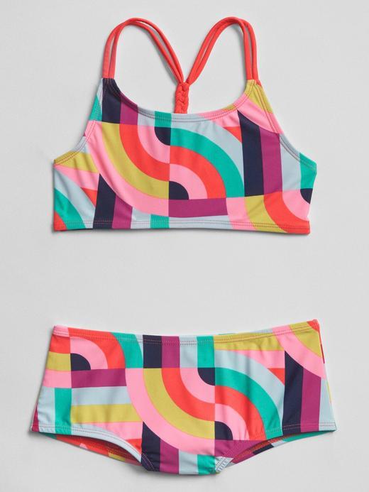 Desenli bikini takımı