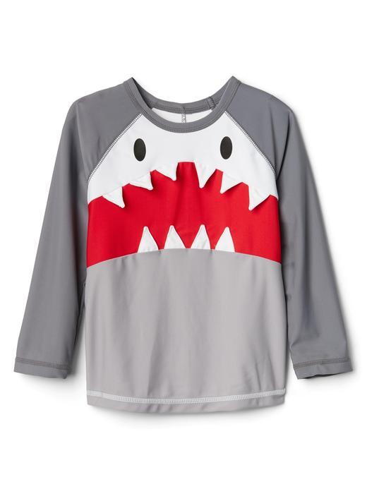 Köpek balığı desenli rashguard mayo t-shirt