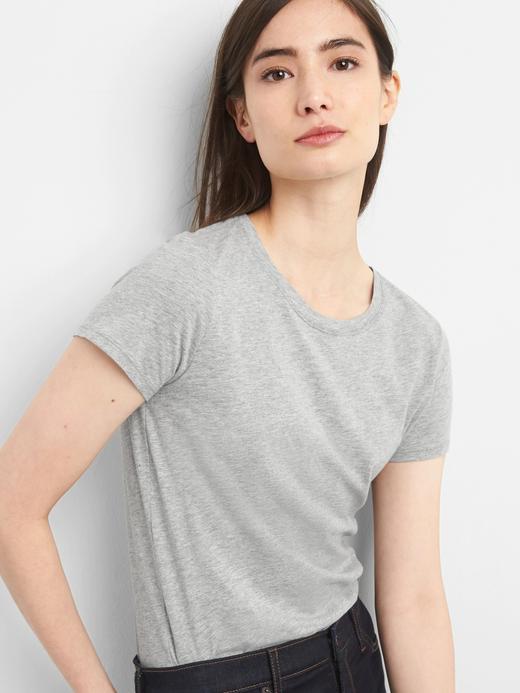 Kadın kırçıllı gri Kadın Vintage Kısa Kollu T-Shirt