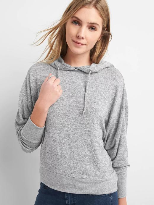 gri Softspun kapüşonlu sweatshirt