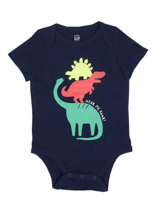 Bebek lacivert Desenli kısa kollu body