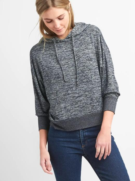 lacivert Softspun kapüşonlu sweatshirt
