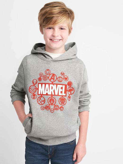 açık gri GapKids | Marvel© kapüşonlu sweatshirt