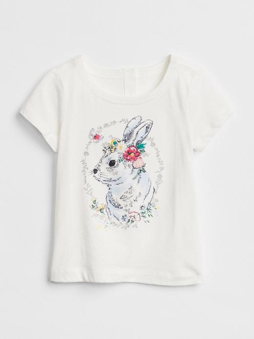 kırık beyaz Gap | Sarah Jessica Parker baskılı t-shirt